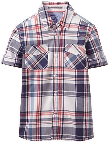 Pepe Jeans Boys Chance Checkered Short Sleeve Shirt,(Manufacturer Size:XX-Small)