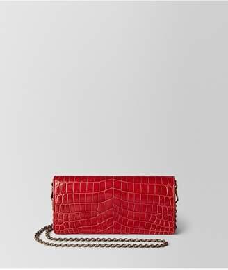 Bottega Veneta China Red Crocodile Chain Wallet