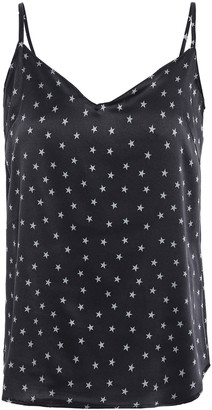 Stella McCartney Betty Twinkling Printed Stretch-silk Satin Camisole
