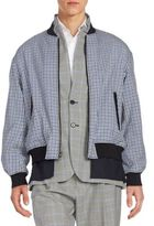 3.1 Phillip Lim Layered Tromp L'Oeil Checked Wool Bomber Jacket
