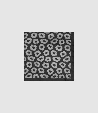Reiss Care - Silk Pocket Square in Black/grey