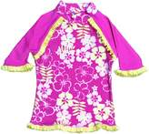 BaBy BanZ Girls 2-6X Long Sleeve UV Rash Top with Tagless Neck