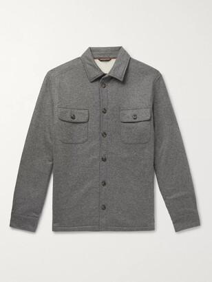 Loro Piana Storm System Cashmere Overshirt - Men - Gray