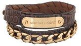 Michael Kors Chocolate Leather Double Wrap Bracelet