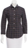 Boy By Band Of Outsiders Plaid Long-Sleeve Top