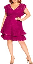 Thumbnail for your product : City Chic Sienna Lace Fit & Flare Minidress