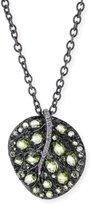 Michael Aram Botanical Leaf Peridot Pendant Necklace
