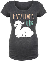 Bloom Maternity Women's Tee Shirts HEATHER - Heather Charcoal 'Mama Llama To Be' Maternity Scoop Neck Tee