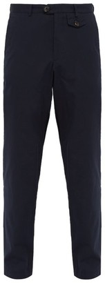 Oliver Spencer Theobald Ribbed Cotton Trousers - Mens - Navy