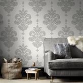 Graham & Brown 56 sq. ft. Grey/White Olana Wallpaper
