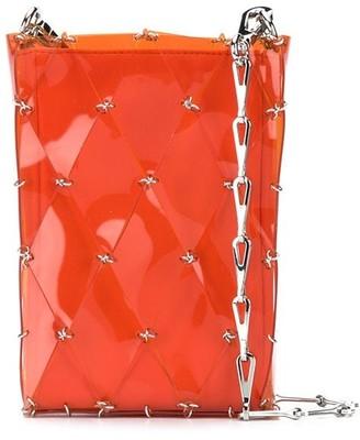 Paco Rabanne Diamond-Pattern Pierced Shoulder Bag
