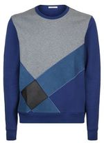 Burberry Suede And Leather Check Sweater