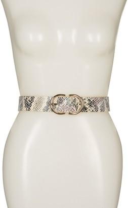 Linea Pelle Double D-Ring Snakeskin Printed Belt