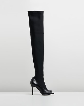 Camilla And Marc Alexis Peep-Toe Stocking Boots