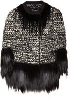 Dolce & Gabbana Goat hair-trimmed bouclé-wool jacket