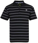 Dunlop Mens Stripe Polo Shirt Tee Top Short Sleeve Collared Neck Button Placket