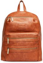Honest City Backpack Diaper Bag in Cognac