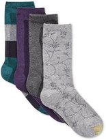Gold Toe Women's 4-Pk. Check Floral Socks