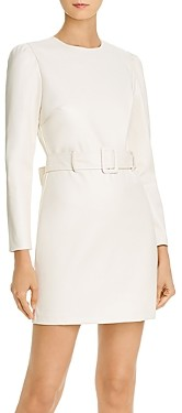 Lucy Paris Belted Faux Leather Dress - 100% Exclusive