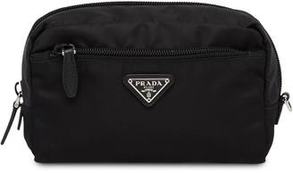 Prada zip around cosmetic pouch