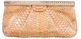 Judith Leiber Crystal-Embellished Python Top Frame Clutch