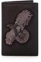 Alexander Mcqueen Eagle-appliqué Bi-fold Leather Cardholder