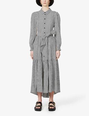 Me And Em Gingham check-print woven midi dress