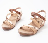 Naot Footwear Leather Ankle Strap Wedge Sandals- Hero