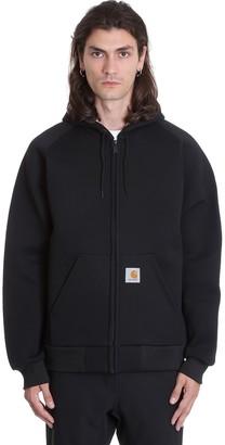 Carhartt Car Lux Hooded Sweatshirt In Black Polyester