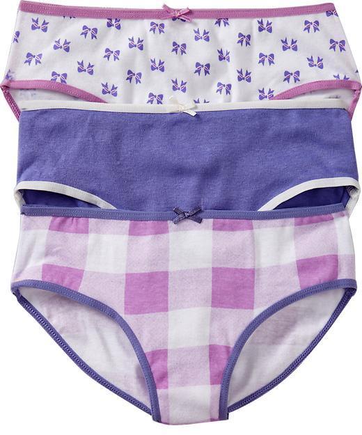 Old Navy Girls Hipster-Underwear 3-Packs