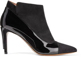 Maison Margiela Patent leather-trimmed suede ankle boots