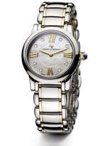 David Yurman Classic 30MM Stainless Steel and 18K Gold Quartz Watch with Diamonds