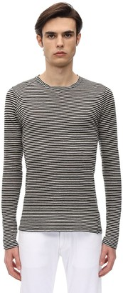 Isabel Marant Striped Light Cotton & Linen T-Shirt