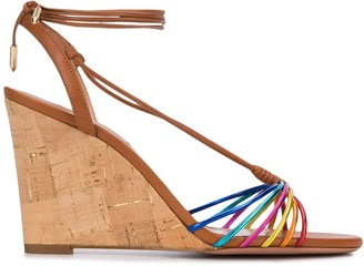 Aquazzura Strappy Wedge Sandals