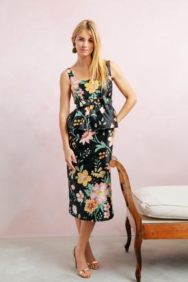 Floral Jacquard Mia Gown