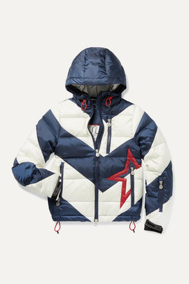 Perfect Moment Kids - Ages 6 - 12 Super Moto Hooded Quilted Striped Down Ski Jacket