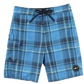 O'Neill Boy's Santa Cruz Plaid Board Shorts