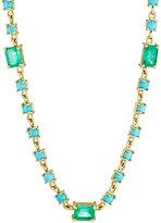 Irene Neuwirth Diamond Collection Women's Emerald & Turquoise Geometric-Link Necklace