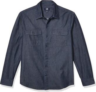 Cutter & Buck Men's Long Sleeve Equinox Denim Shirt
