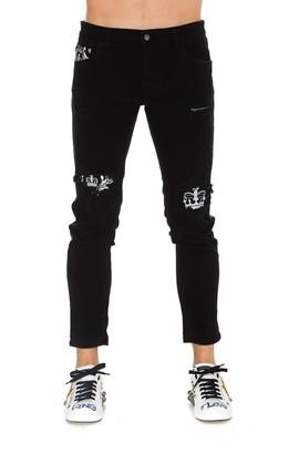 Dolce & Gabbana Black Bandana Jeans