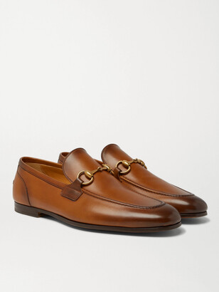 Gucci Horsebit Leather Loafers - Men - Brown