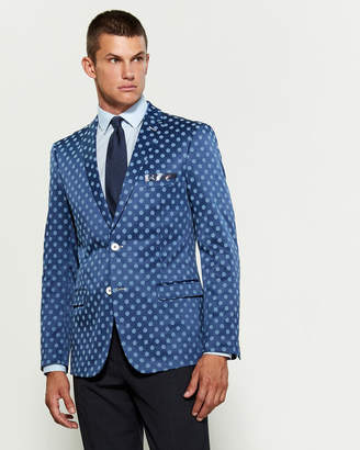 Paisley & Gray Light Blue Polka Dot Slim Fit Sport Coat