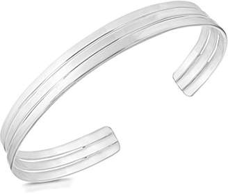 Tuscany Silver Sterling Silver Solid Triple Torque Bangle