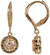 Judith Jack 10K Gold Plated CZ & Marcasite Halo Drop Earrings