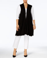 Alfani Plus Size Ruffled-Hem Sweater Vest, Created for Macy's