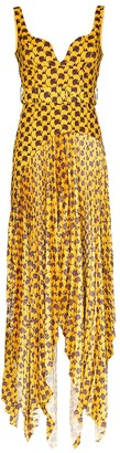 SOLACE London Junee abstract print maxi dress