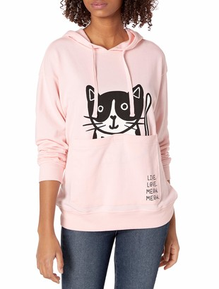 Skechers Women's Bobs for Dogs and Cats Pouch Pullover Hooded Sweatshirt