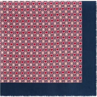 Gucci heart-print scarf