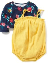 Old Navy Bubble-Romper & Cropped Cardi Set for Baby