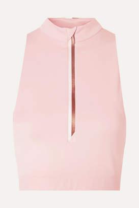 Vaara Willow Cropped Stretch Top - Pastel pink
